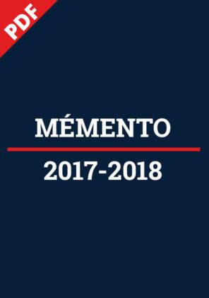 Mémento 2017-2018 -PDF