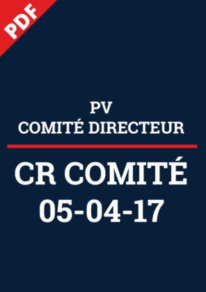 PV Comité Directeur 05-04-17