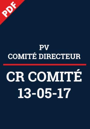 PV Comité Directeur 13.06.17