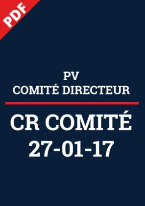 PV Comité Directeur 27.01.17