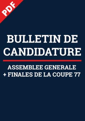 Bulletin de Candidature AG + Finales Coupe 77