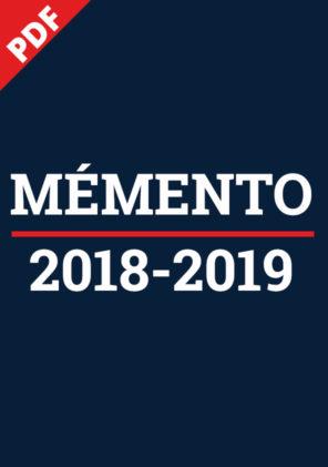 Mémento 2018-2019