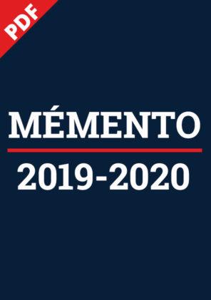 Mémento 2019-2020