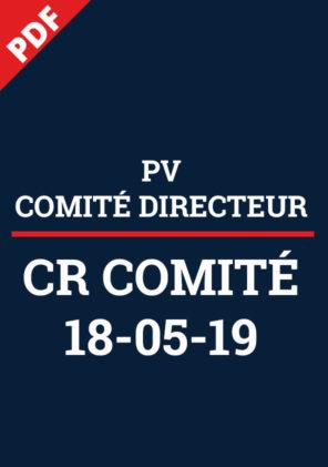 PV Comité Directeur 18 mai 2019