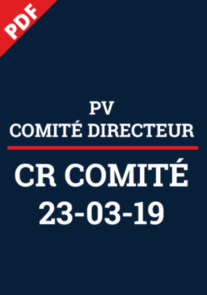 PV Comité Directeur 23 mars 2019