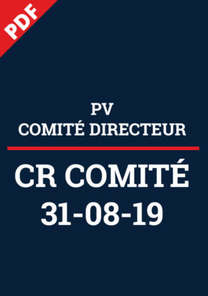 PV Comité Directeur 31-08-19