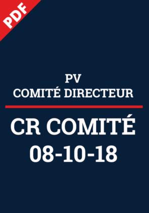 PV Comité Directeur 08-10-18