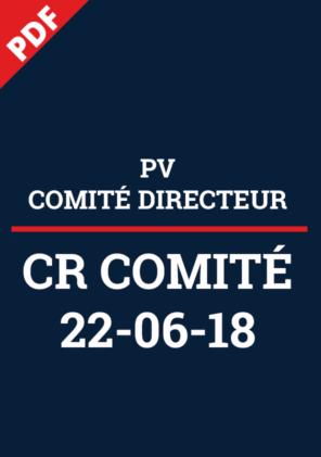 PV Comité Directeur 22-06-18