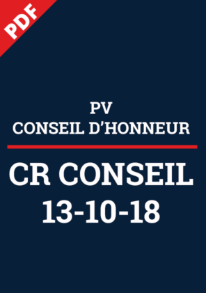 PV Conseil d'Honneur 13-10-18