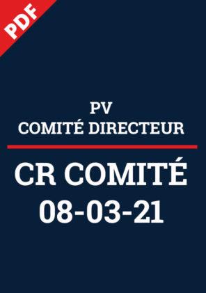 PV Comité Directeur