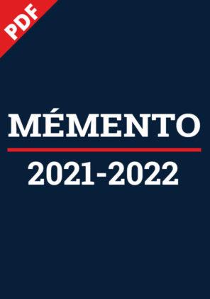 Mémento 2021-2022